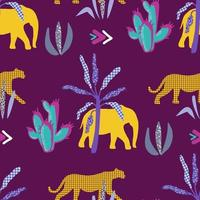 African seamless patterns. Vector illustration.