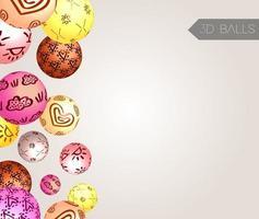 bolas creativas 3d. fondo abstracto. vector