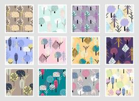 Colourful trendy seamless exotic pattern with tropical plants. Modern abstract design for paper, wallpaper, cover, fabric and other users. Vector illustration.