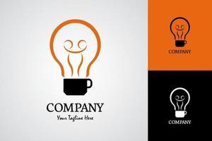 Bulb Coffee Logo Illustration vector