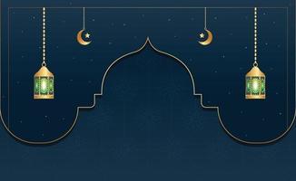 Islamic background or banner design vector