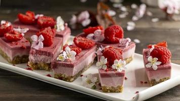 Arrangement of delicious homemade desserts photo