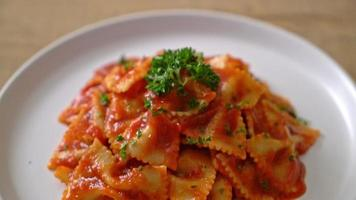 Farfalle Pasta in Tomato Sauce with Parsley