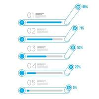 Infographic template design blue vector