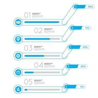 Infographic graph chart vector