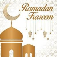 Ramadan kareem greeting social media post design vector