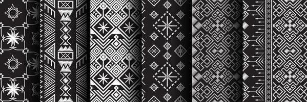 Pattern ethnic set vector