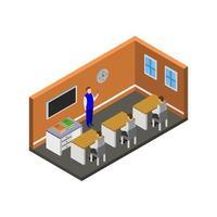 Isometric University Room vector
