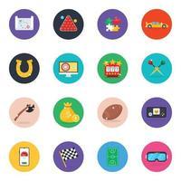 colección de juegos y entretenimiento conjunto de iconos vector