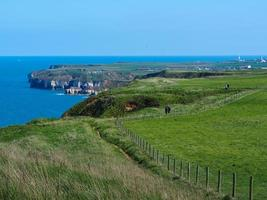 Coastal path at Bempton Cliffs, East Yorkshire, England photo