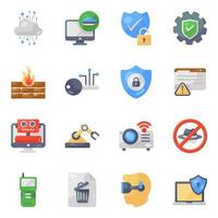 Ai Technology  and Robots Icon Set vector