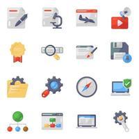 conjunto de iconos de marketing empresarial y web vector