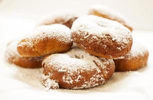 Powered sugar donuts photo