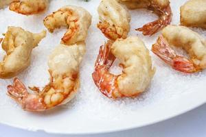 Shrimp on ice photo