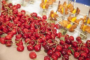 Group of cherries photo