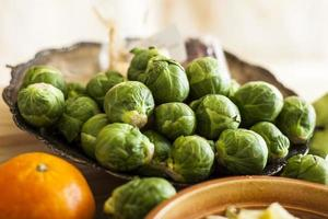 Fresh brussels sprouts photo