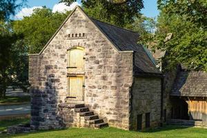 edificio de piedra vintage en la mansión belle meade en nashville, tennessee, 2020. foto