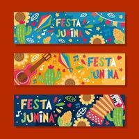 banner del festival festa junina vector