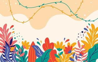 Floral Background in Flat Design Style vector