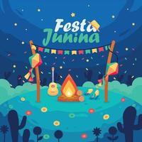 Festa Junina in Flat Design vector