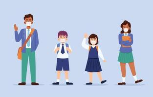 Student Character Collection in New Normal Protocol vector