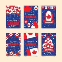 Canada Day Greeting Card Collection vector