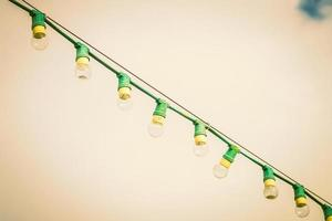 Lamps on a wire