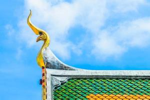 Roof of a temple in Thai style photo