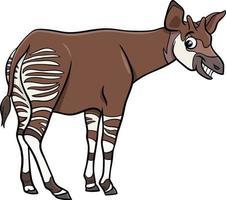 cartoon okapi comic animal character vector