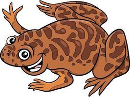 ilustración de dibujos animados de carácter animal xenopus vector
