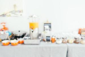 Abstract blur breakfast buffet photo