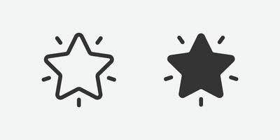 Star, favorite outline icon for website and mobile app on grey background vector
