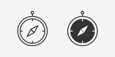 Compass icon. navigation, arrow, direction, discovery vector