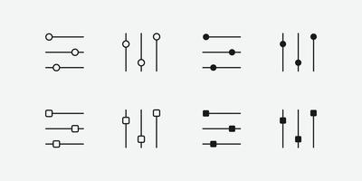 Settings icon. options, control, equalizer sign for web and mobile app vector
