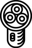 Line icon for razor vector
