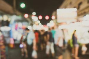 Abstract defocused market at night photo