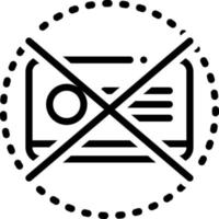 Line icon for expired vector