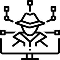 Line icon for cyber crime vector