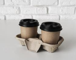 Coffee to go cups photo