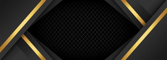 Elegant Black and Gold Banner Background vector