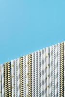Assortment of paper straws photo