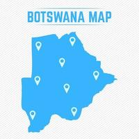 Botswana Simple Map With Map Icons vector
