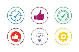 Colorful Advantage Icon Set vector