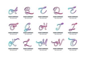 Collection of Doodle Logo Templates vector