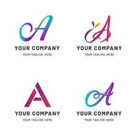Collection of A Logo Template vector
