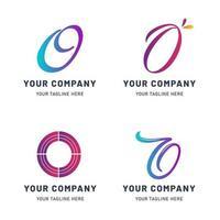 Collection of O Logo Templates vector