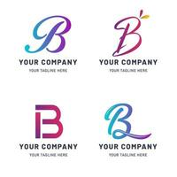 colección de plantilla de logotipo b vector