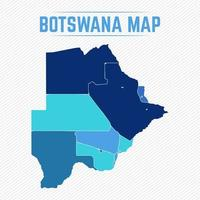 Botswana Detailed Map With Cities vector