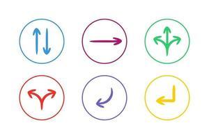 Colorful Direction Arrow Icon Set vector
