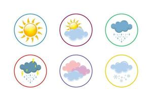 Colorful Meteorology Icon Set vector
